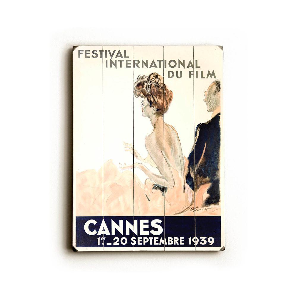 ArteHouse 14 in. x 20 in. 1939 Cannes Film Festival Vintage Wood Sign-DISCONTINUED