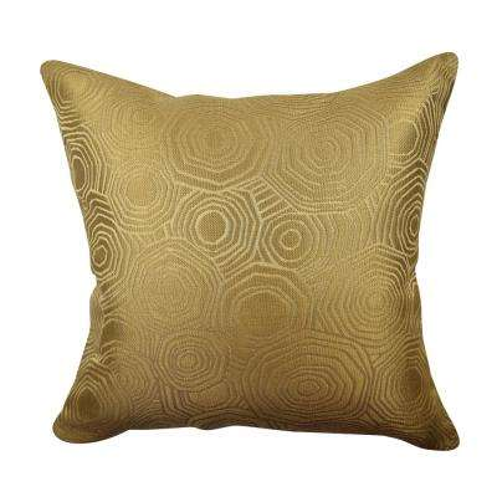 Gold Tiles Matelass Throw Pillow