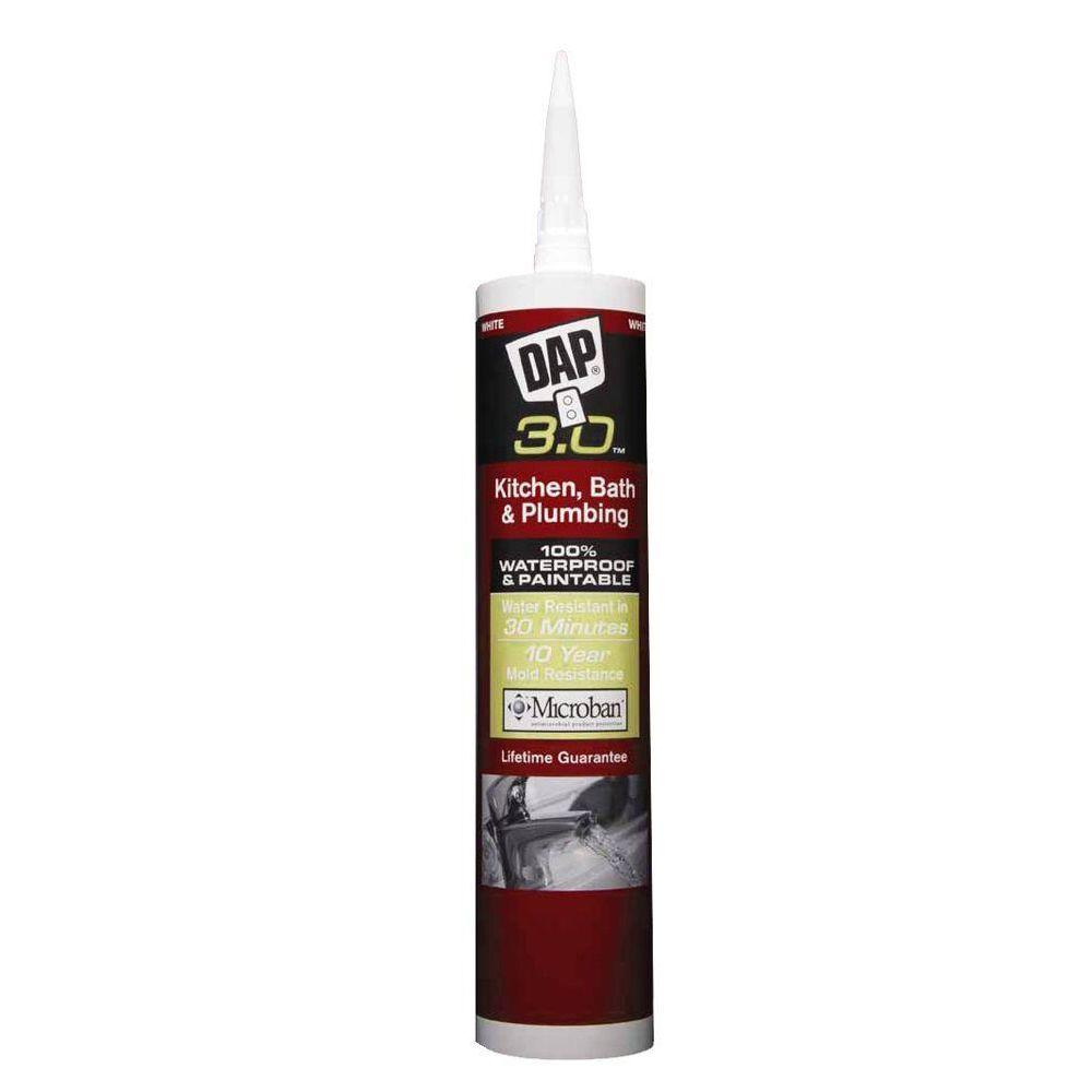DAP 3.0 9.8 oz. White Kitchen, Bath and Plumbing High Performance Sealant (12-Pack)