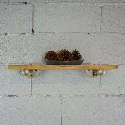 Rustic Bronze pipe with reclaimed-aged wood bookshelf