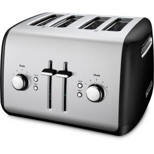 KitchenAid 4-Slice Black and Silver Toaster by KitchenAid
