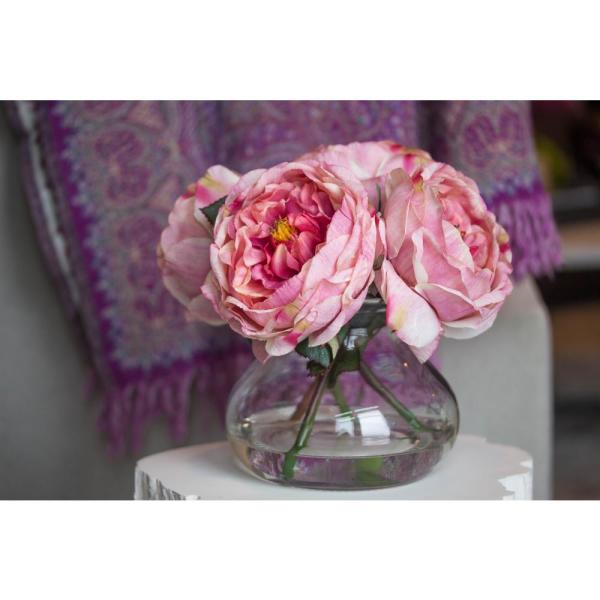 Nearly Natural - Fancy Rose with Vase