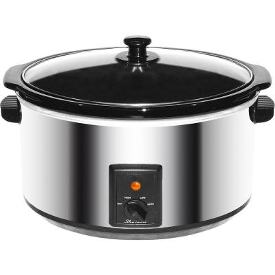 8 Qt. Stainless Steel Slow Cooker with Keep Warm Setting