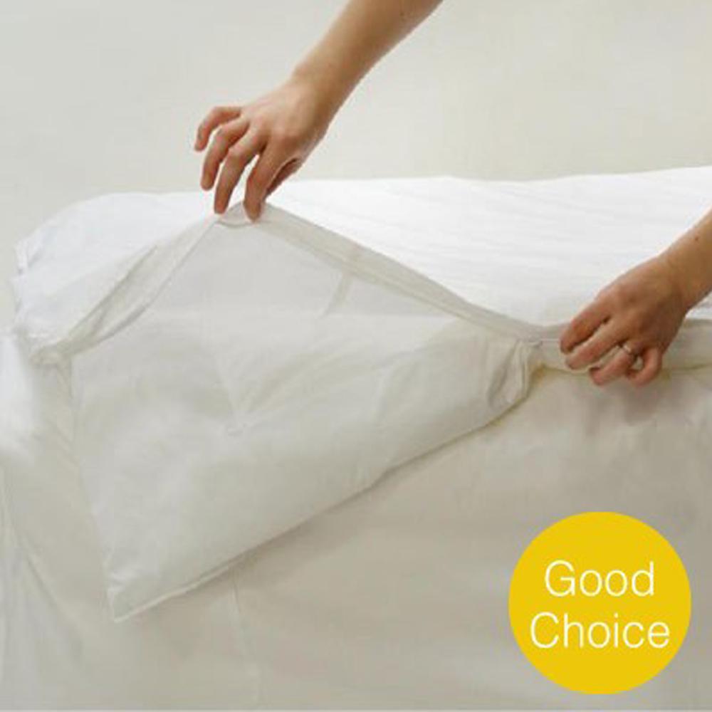 Classic White Twin Comforter Cover