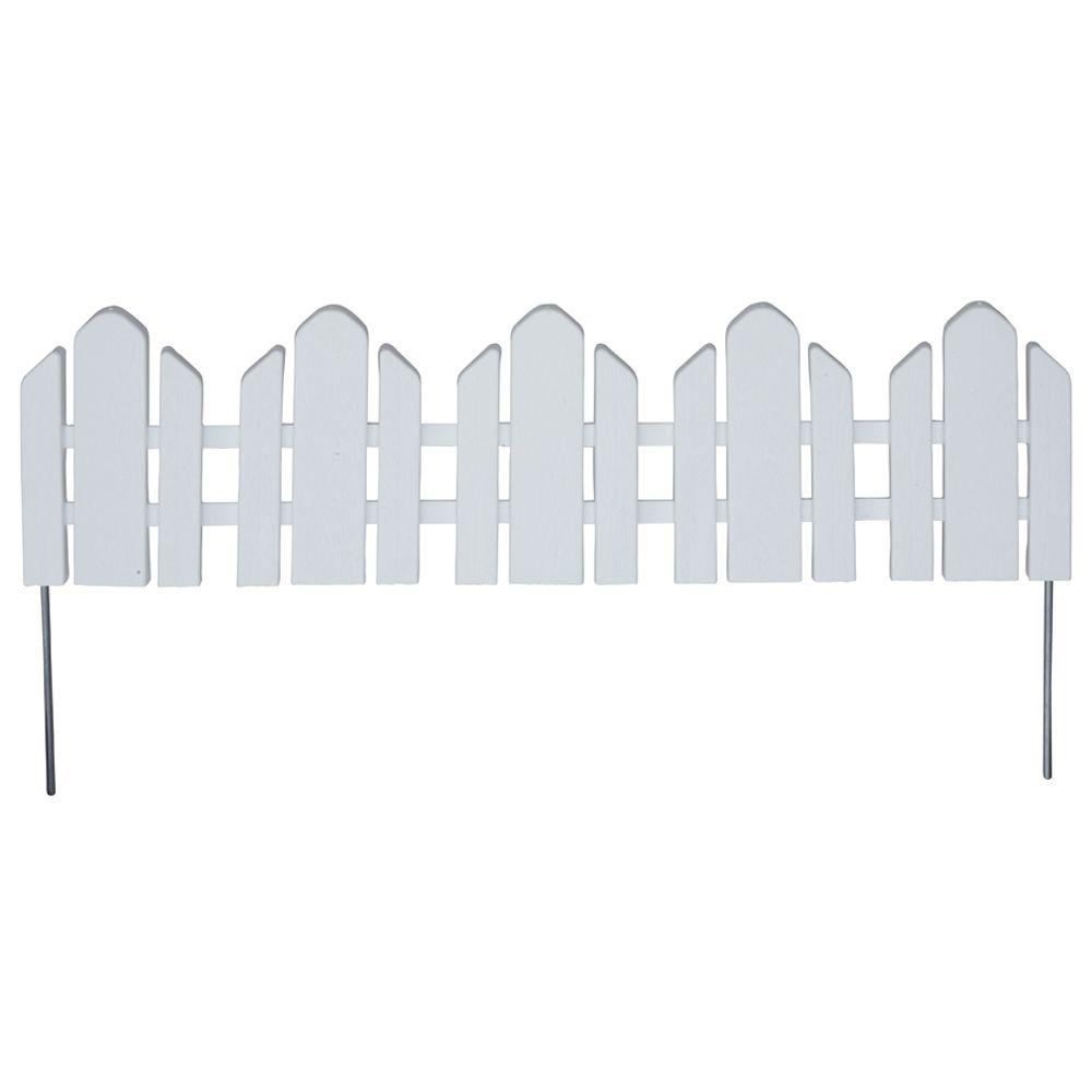 White - Garden Fencing - Fencing - The Home Depot