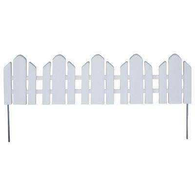 Dackers 6-1/4 in. Resin Adirondack Style Garden Fence (12-Pack)