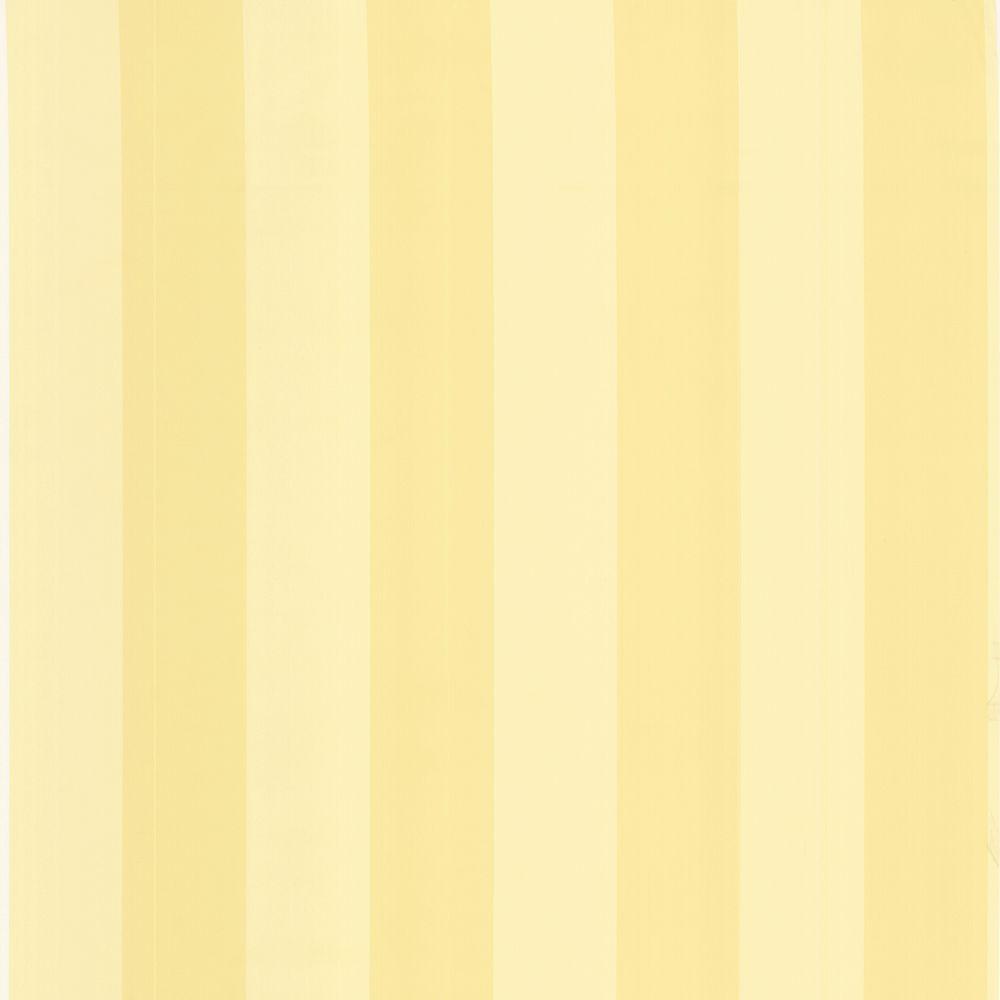 The Wallpaper Company 56 sq. ft. Yellow Pastel Two Tone Stripe Wallpaper