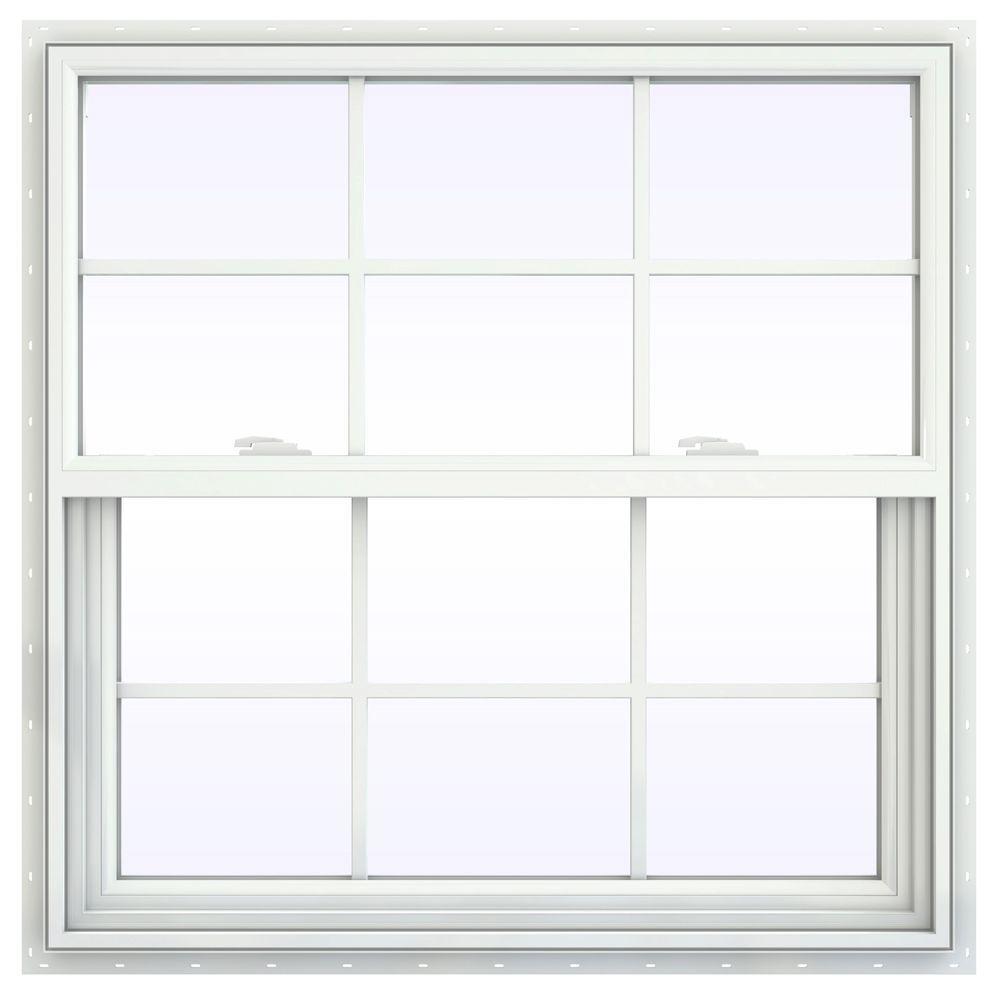 35.5 in. x 35.5 in. V-2500 Series Single Hung Vinyl Window