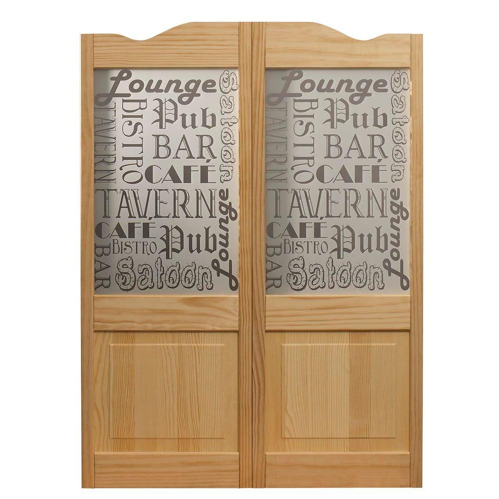 Royal Orleans Spindle Top Wood Cafe Door 843642   The Home Depot