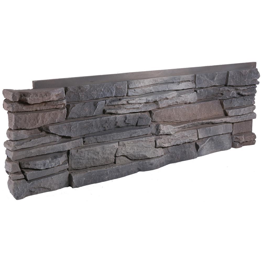 GenStone Stacked Stone Kenai 12 In. X 38 In. Faux Stone Siding Corner Panel