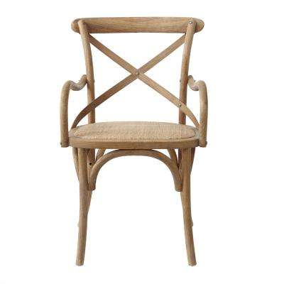 Hyde Ash Grey Cafe Dining Arm Chair