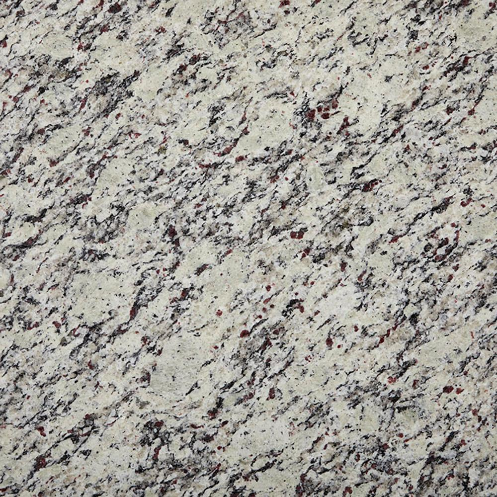 3 in. x 3 in. Granite Countertop Sample in White Napoli