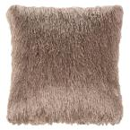 Soleil Shag Champagne Square Outdoor Throw Pillow