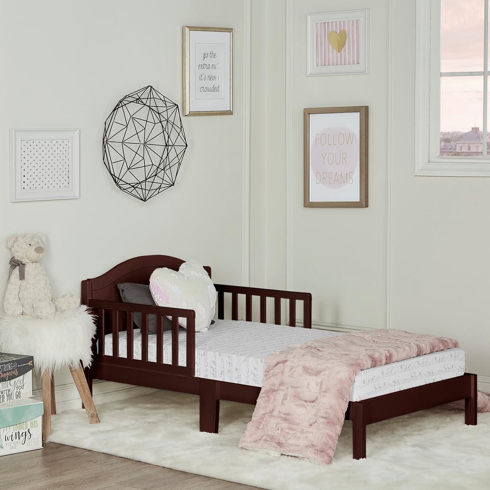 Dream On Me Sydney Espresso Toddler Adjustable Toddler Bed 647 Esp