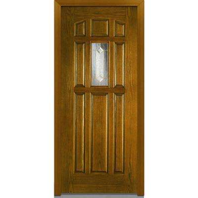 Majestic Elegance Right-Hand 1/4-  sc 1 st  The Home Depot & Yes - 8 Panel - Walnut - Exterior Doors - Doors u0026 Windows - The Home ...