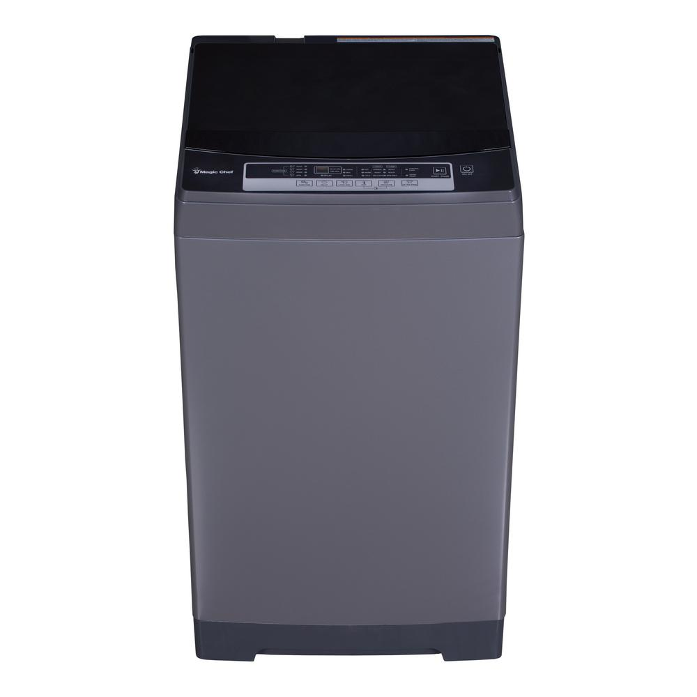 Magic Chef 1.6 cu. ft. Portable, Compact Top Load Washer in Silver