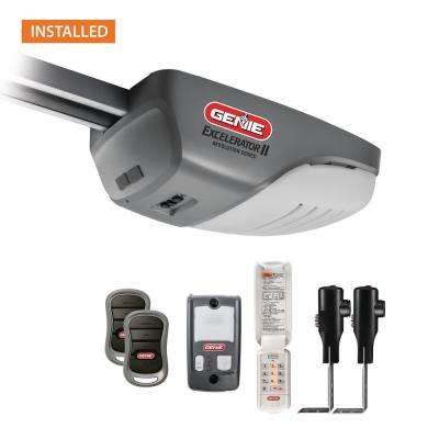 Excelerator 1 HPc screw drive garage door opener with Installation Bundle (8 ft.)