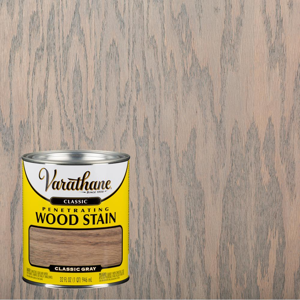 The Perfect Grey Wood Stain: Varathane 1 Qt. Gray Classic Wood Interior Stain-339717