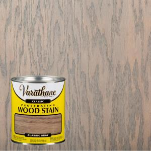 Varathane 1 Qt Gray Classic Wood Interior Stain 339717 The Home Depot