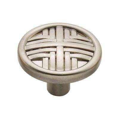 1.25 in. Satin Nickel Hard Cross Knob