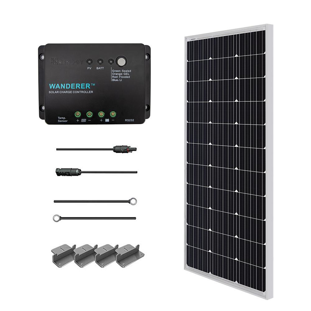 Renogy 100-Watt 12-Volt Monocrystalline Solar Starter Kit for Off-Grid  Solar System