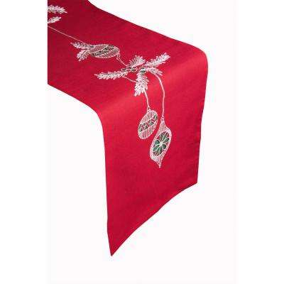 Christmas Ornaments 100% Polyester Table Runner