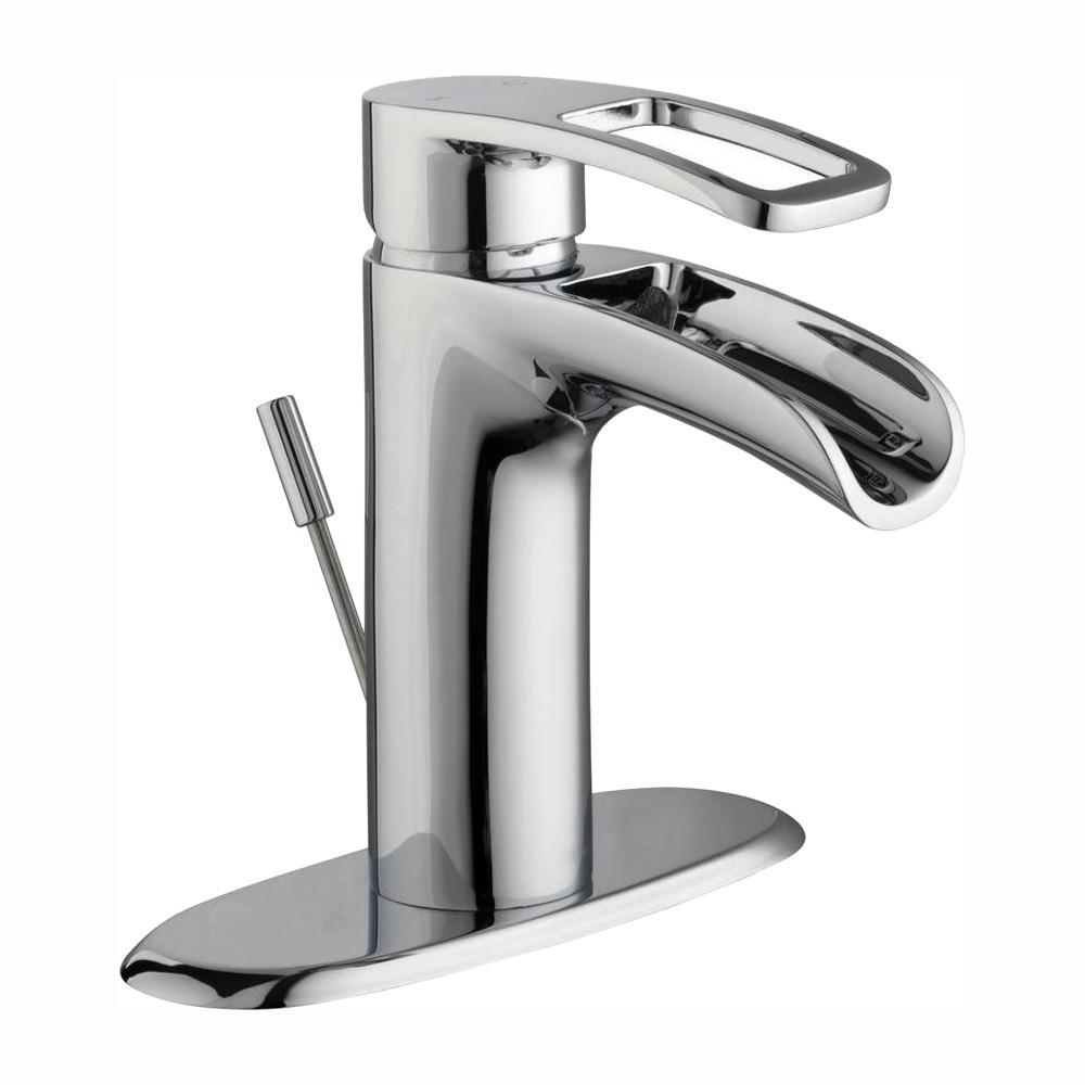 Glacier Bay Kiso Single Hole Single-Handle Low-Arc Bathroom Faucet in Chrome