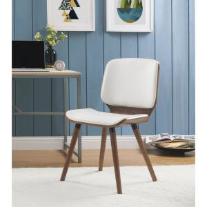 Awesome Acme Furniture Nemesia White Leatherette And Walnut Accent Squirreltailoven Fun Painted Chair Ideas Images Squirreltailovenorg