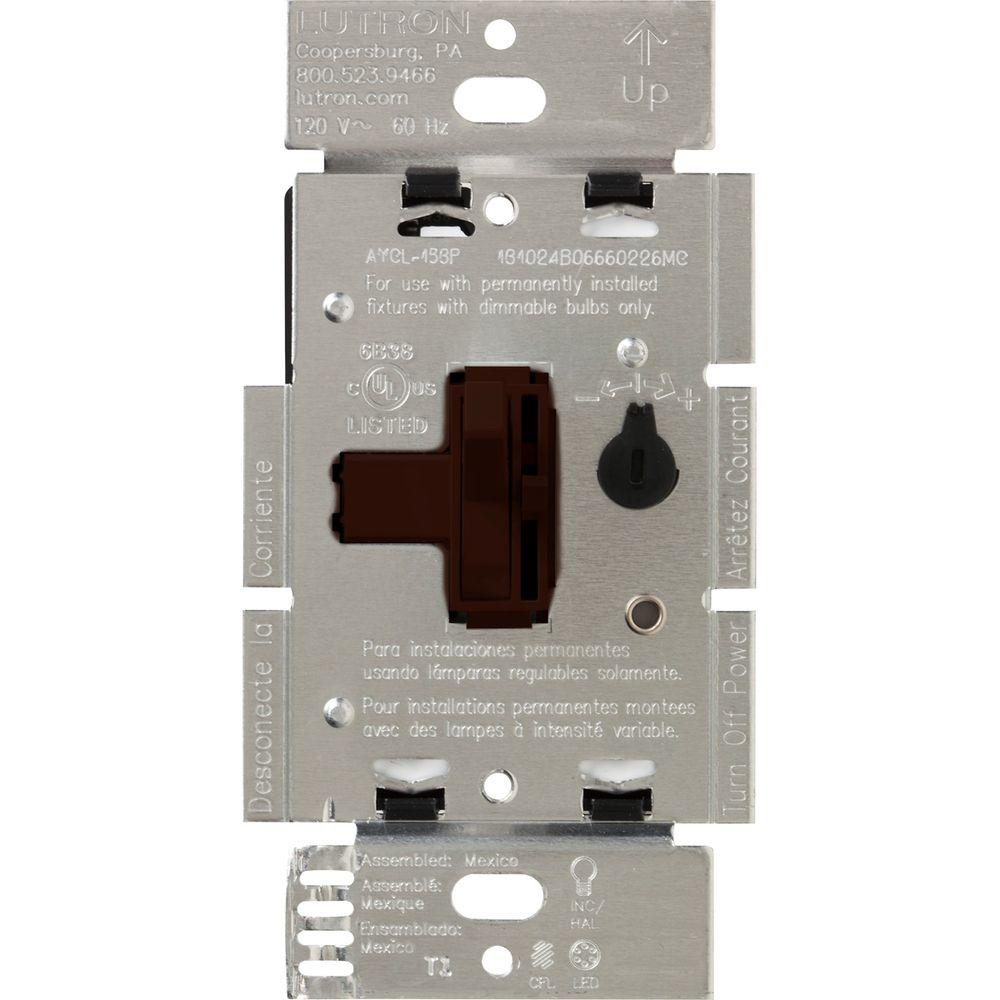 Lutron Toggler 250W C.L Dimmer Switch for Dimmable LED ...