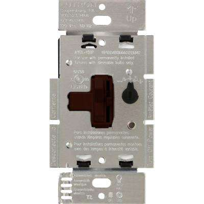 Toggler 250W C.L Dimmer Switch for Dimmable LED, Halogen and Incandescent Bulbs, Single-Pole or 3-Way, Brown