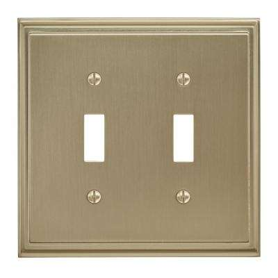 Mulholland 2 Toggle Golden Champagne Wall Plate