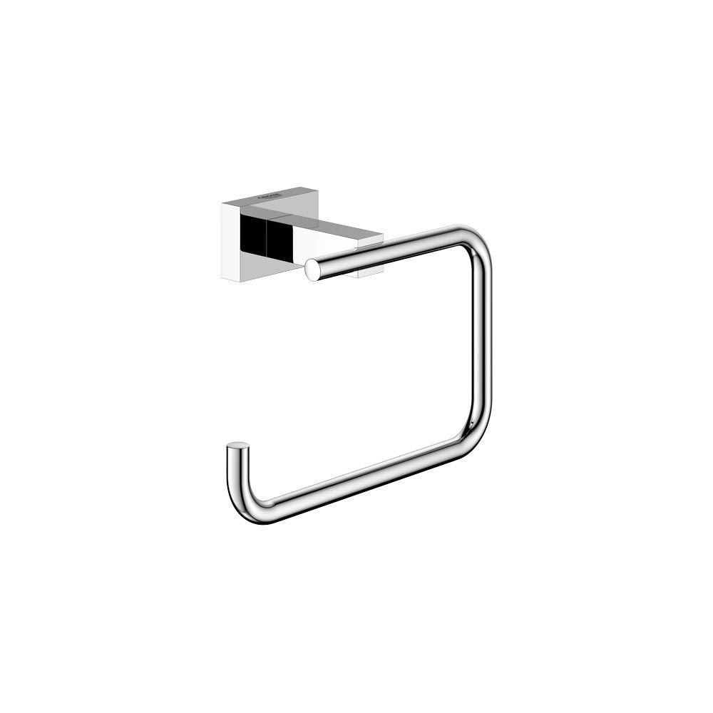 Grohe Essentials Cube Single Post Toilet Paper Holder Without Cover In Chrome