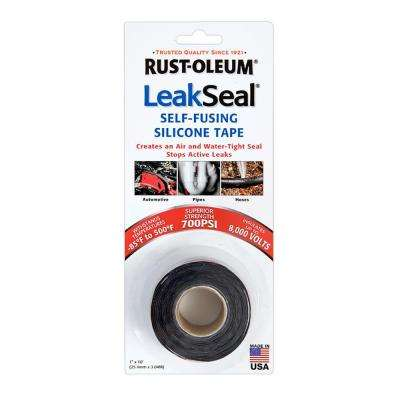 1 in. x 3.3 yds. Black LeakSeal Tape (Case of 6)