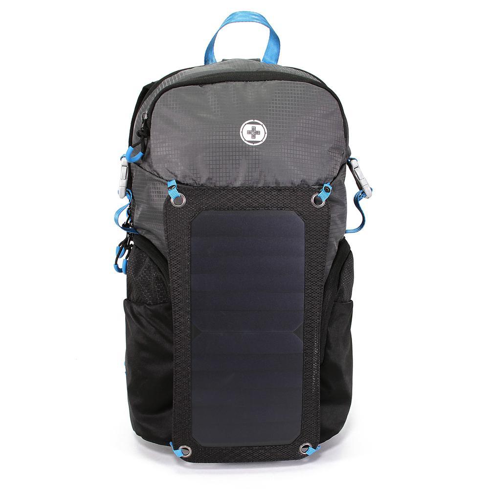 Solar Shot 21 in. Black Outdoor Backpack