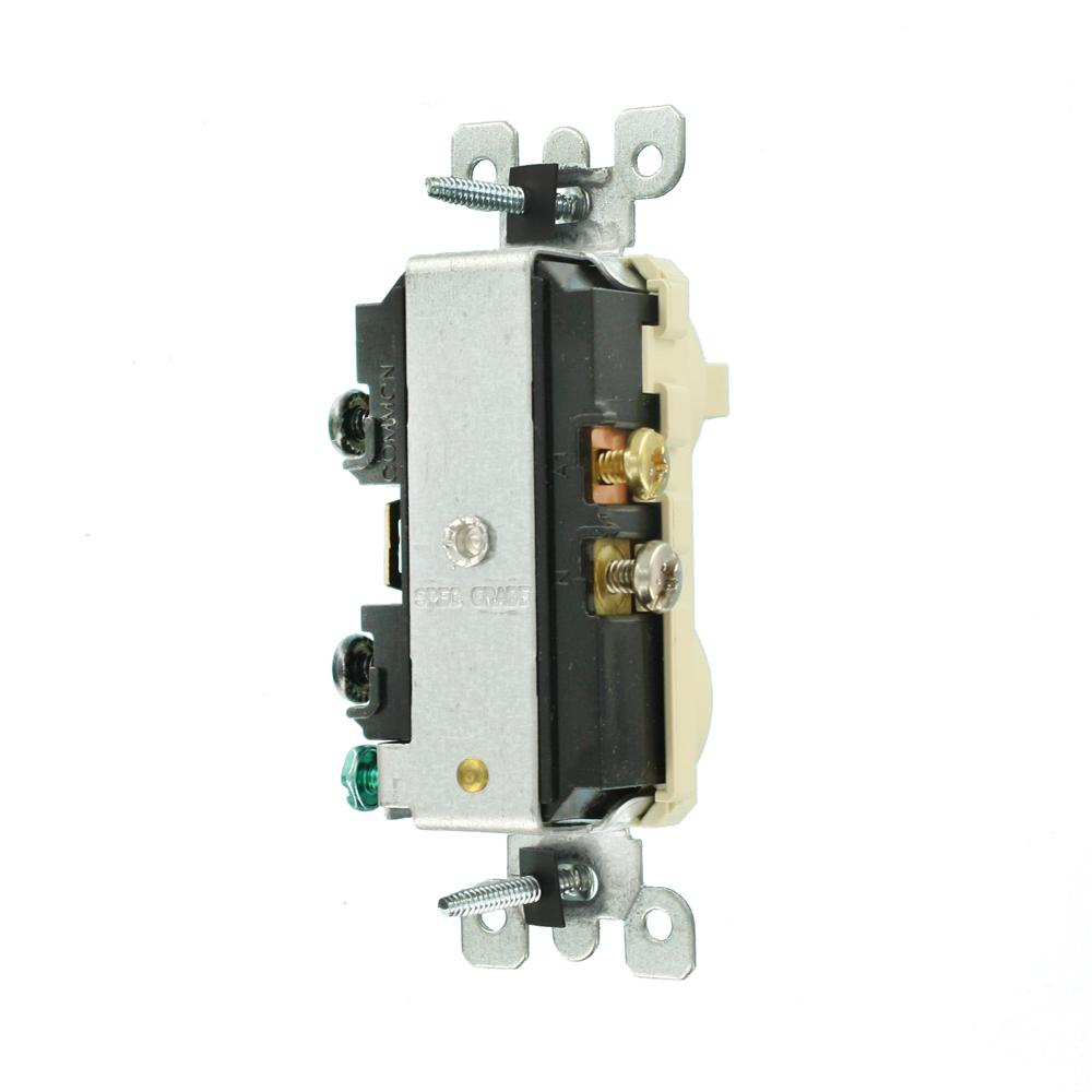 [DIAGRAM_38EU]  Leviton 15 Amp Tamper-Resistant Combination Switch and Outlet, Ivory-R51- T5225-0IS - The Home Depot   Leviton T5225 Wiring Diagram Switch      The Home Depot