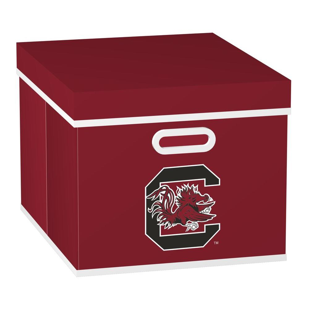 MyOwnersBox College STACKITS University of South Carolina 12 in. x 10 in. x 15 in. Stackable Garnet Fabric Storage Cube