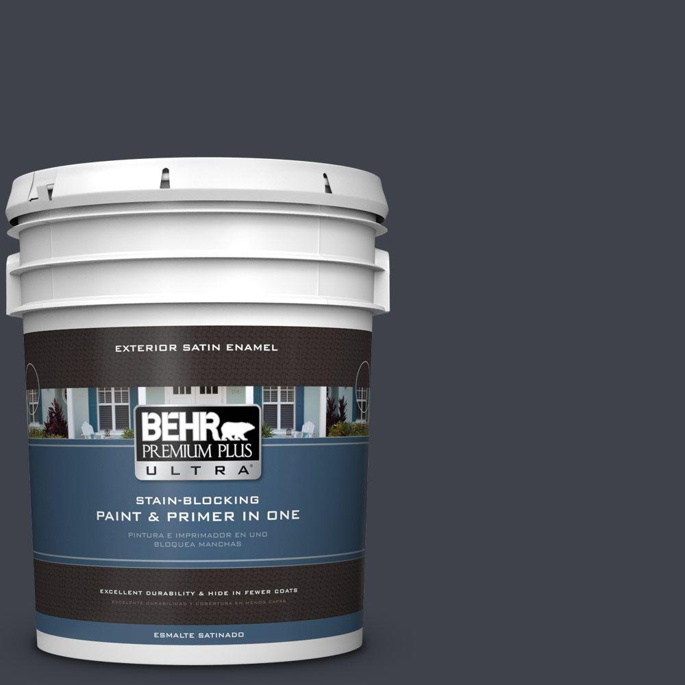 BEHR Premium Plus Ultra 5-gal. #760F-7 Sorcerer Satin Enamel Exterior Paint