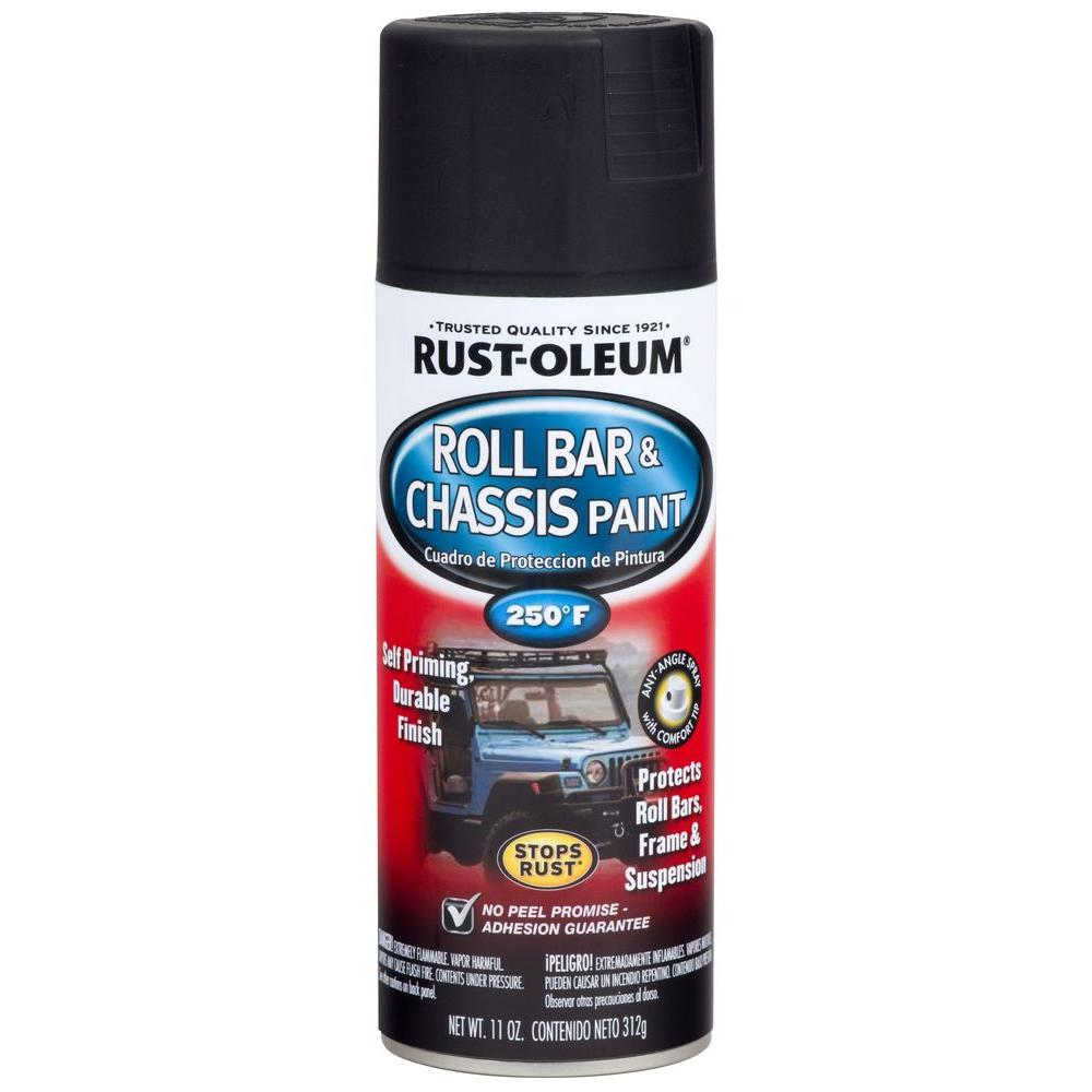 Rust-Oleum Automotive 11 oz. Satin Black Roll Bar and Chassis Spray ...