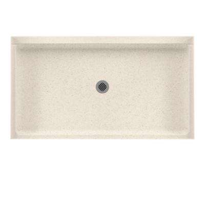 32 in. x 60 in. Solid Surface Single Threshold Center Drain Shower Pan in Tahiti Sand