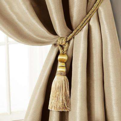 Amelia 24 in. Tassel Tieback Rope Cord Window Curtain Accessories in Natural