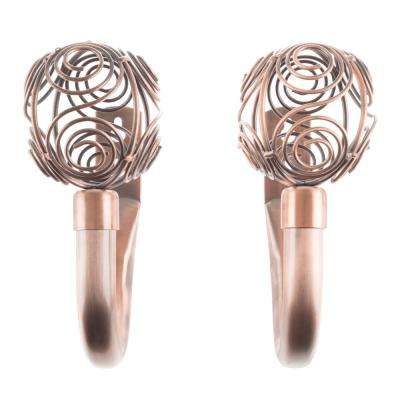 Hollow Circle Holdback Pair in Copper