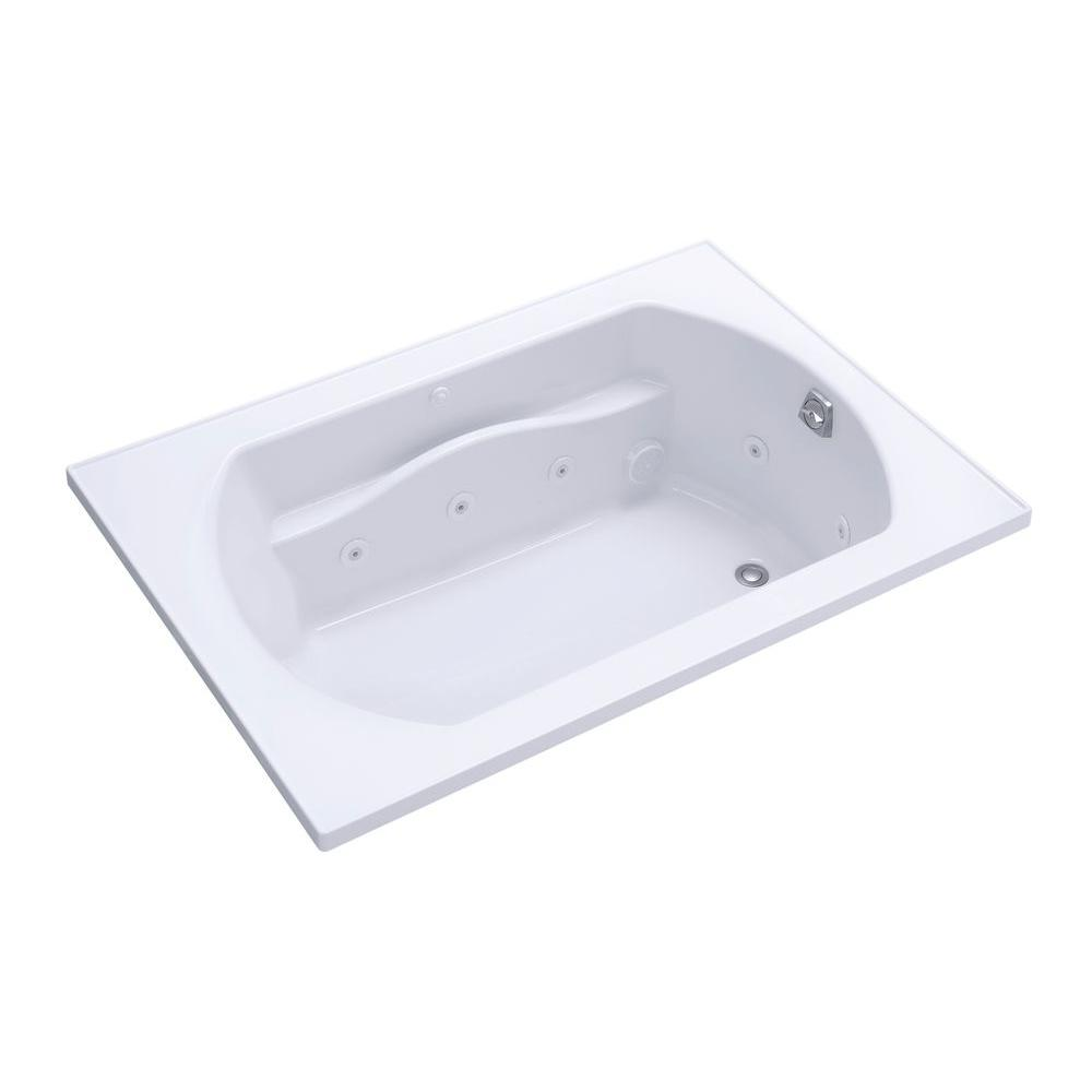 STERLING Lawson 60 in. x 42 in. Decked Drop Whirlpool Tub with Reversible Drain in White-DISCONTINUED