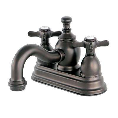 French Cross 4 in. Centerset 2-Handle Mid-Arc Bathroom Faucet in Oil Rubbed Bronze
