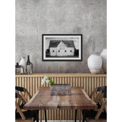 "24 in. H x 36 in. W ""Grange Blanche"" by Marmont Hill Framed Printed Wall Art"