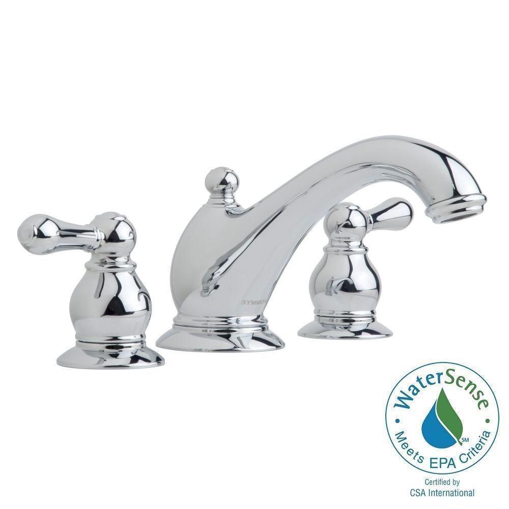 Symmons Allura 8 in. Widespread 2-Handle Mid-Arc Bathroom Faucet in ...