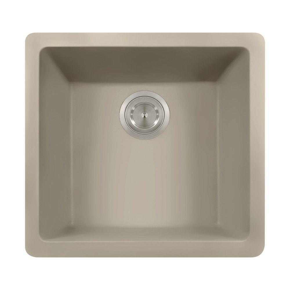 Polaris Undermount Granite 18 in. Single Bowl Kitchen Sin...