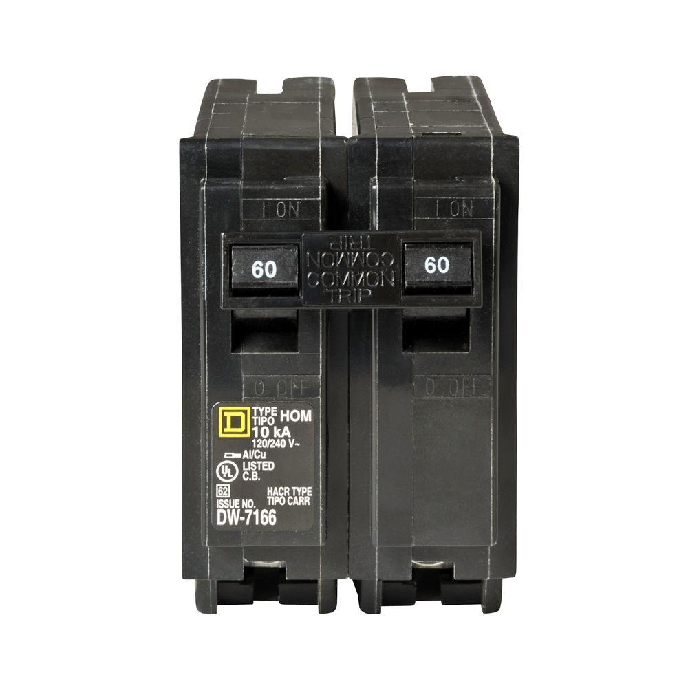Square D Homeline 60 Amp 2 Pole Circuit Breaker Hom260cp The Home Cat 6 8 Prong Wiring Diagram