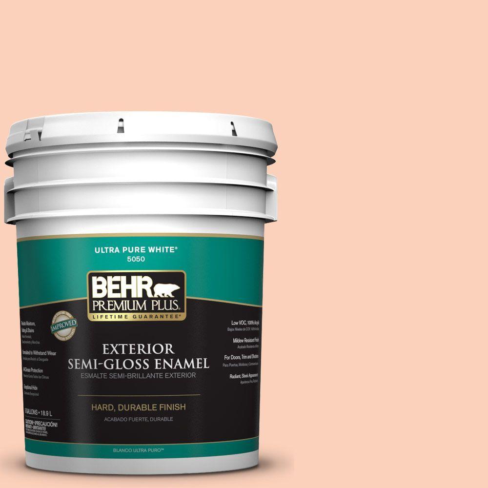 BEHR Premium Plus 5-gal. #P190-2 Fahrenheit Semi-Gloss Enamel Exterior Paint