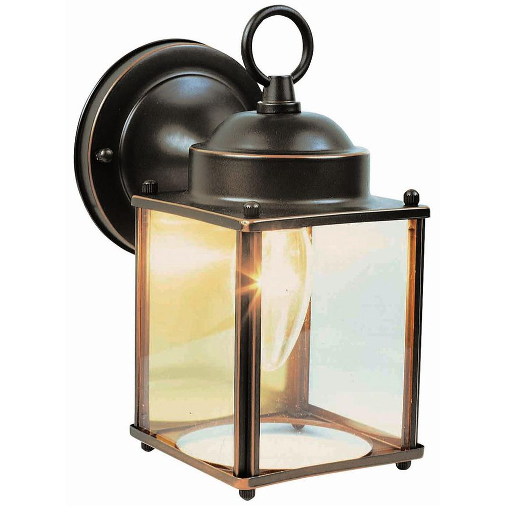 Design House Coach Oil-Rubbed Bronze Outdoor Wall-Mount Downlight