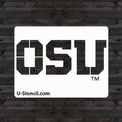 """Oregon State"" Mini Stencil"